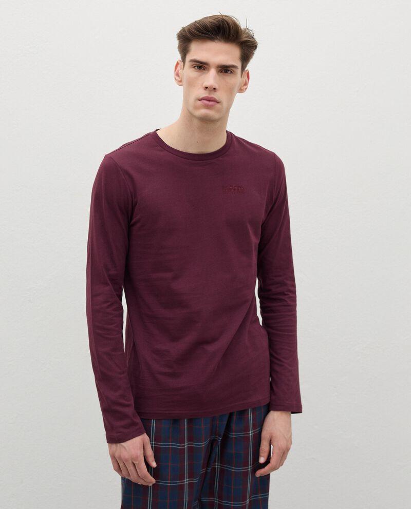Maglia del pigiama con ricamo in puro cotone uomo cover