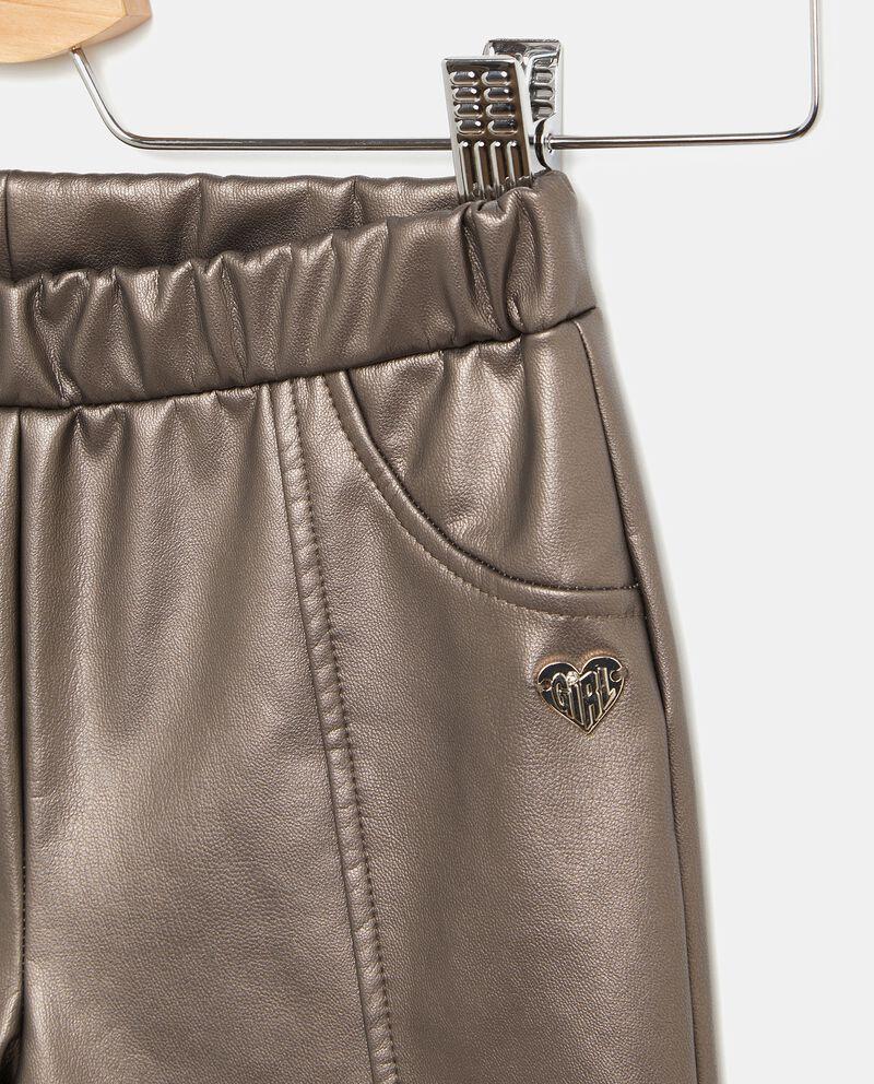 Pantaloni metallizzati bambina