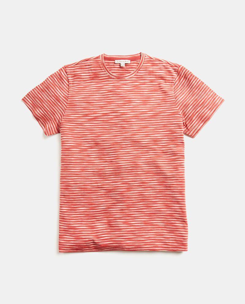 T-shirt in cotone organico con motivo a righe
