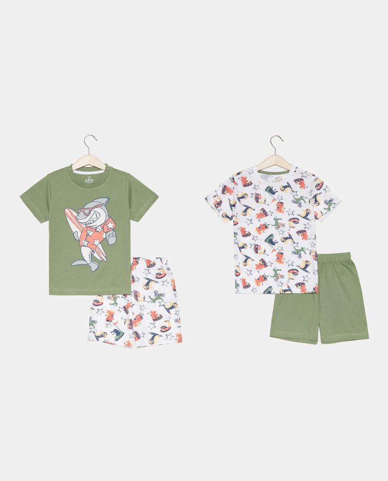 Bipack 2 pigiami di cotone organico bambino