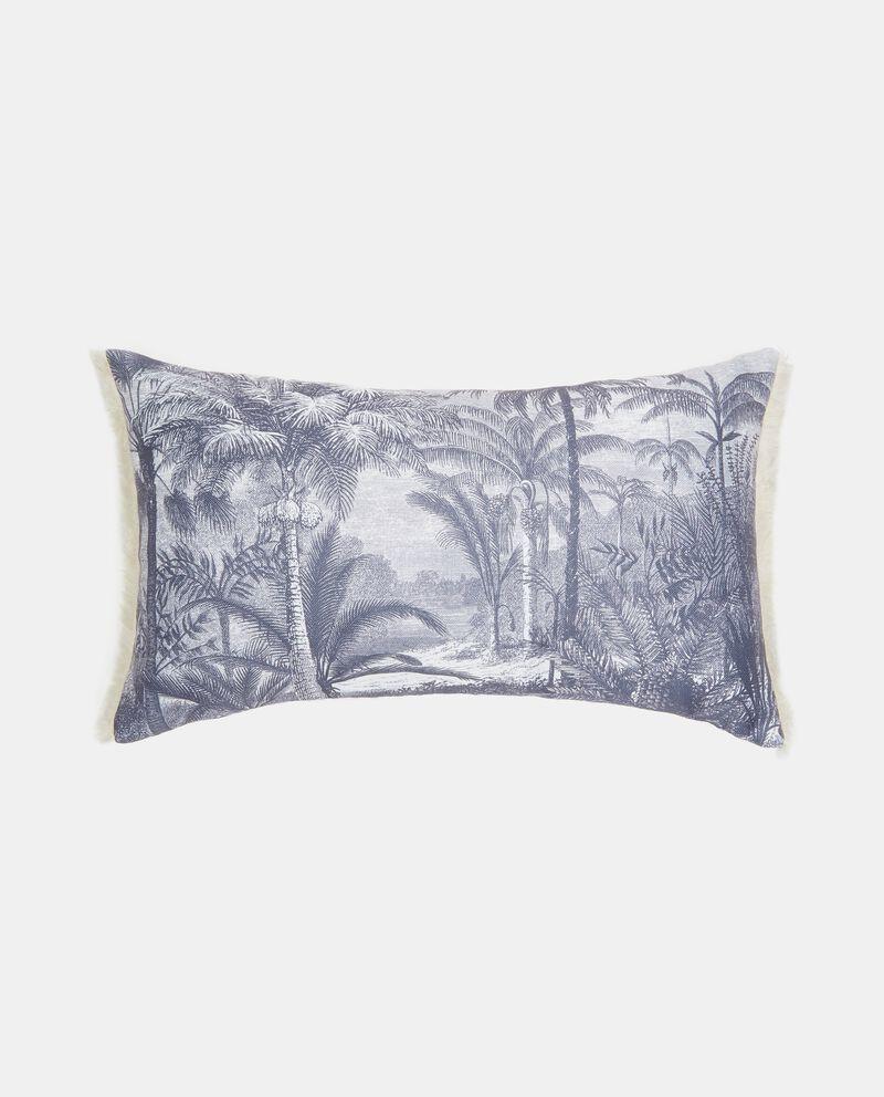 Cuscino rettangolare con fantasia palme