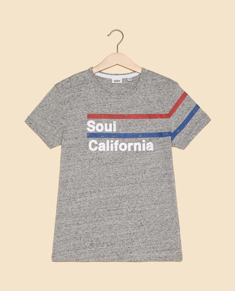 T-shirt con effetto mélange ragazzo