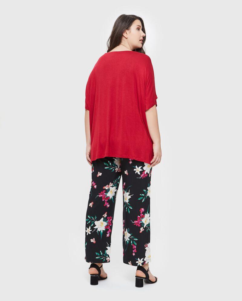 T-shirt ampia in tinta unita Curvy donna