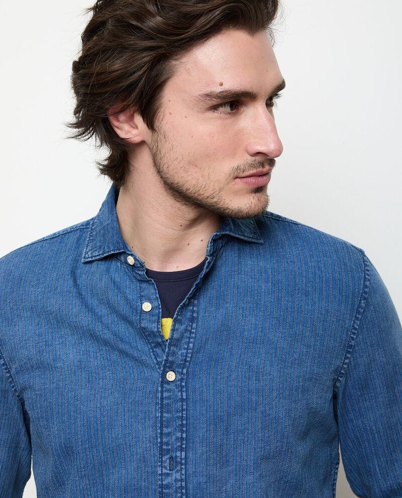 Camicia in denim puro cotone uomo single tile 2