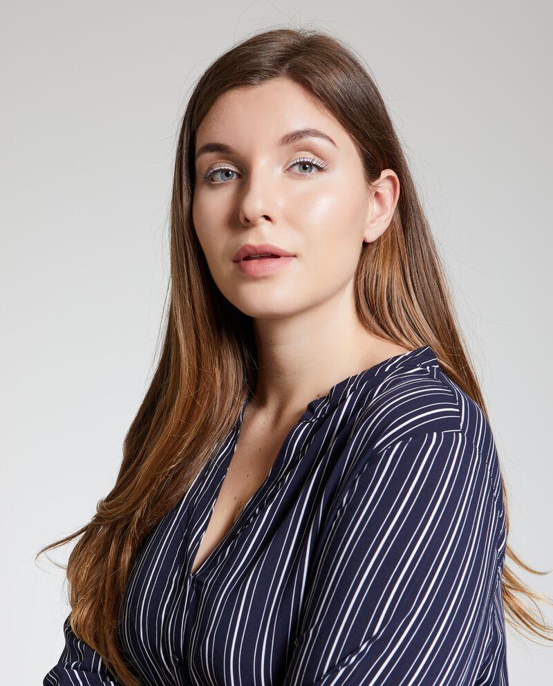 Blusa a righe curvy donna