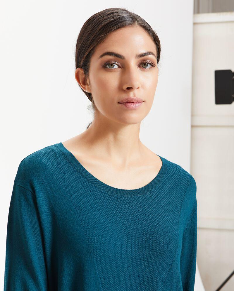 Abito tinta unita tricot donna