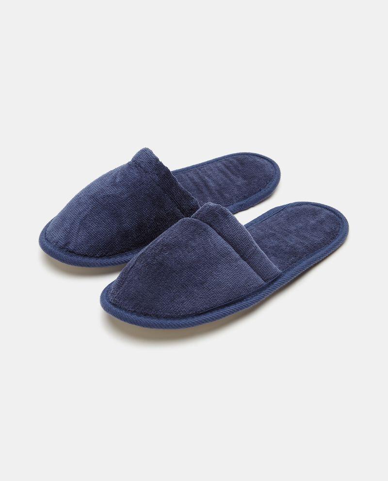 Pantofole tinta unita velluto cover