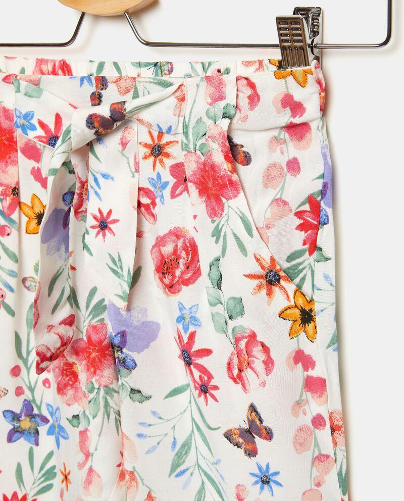 Pantaloni in fantasia floreale bambina