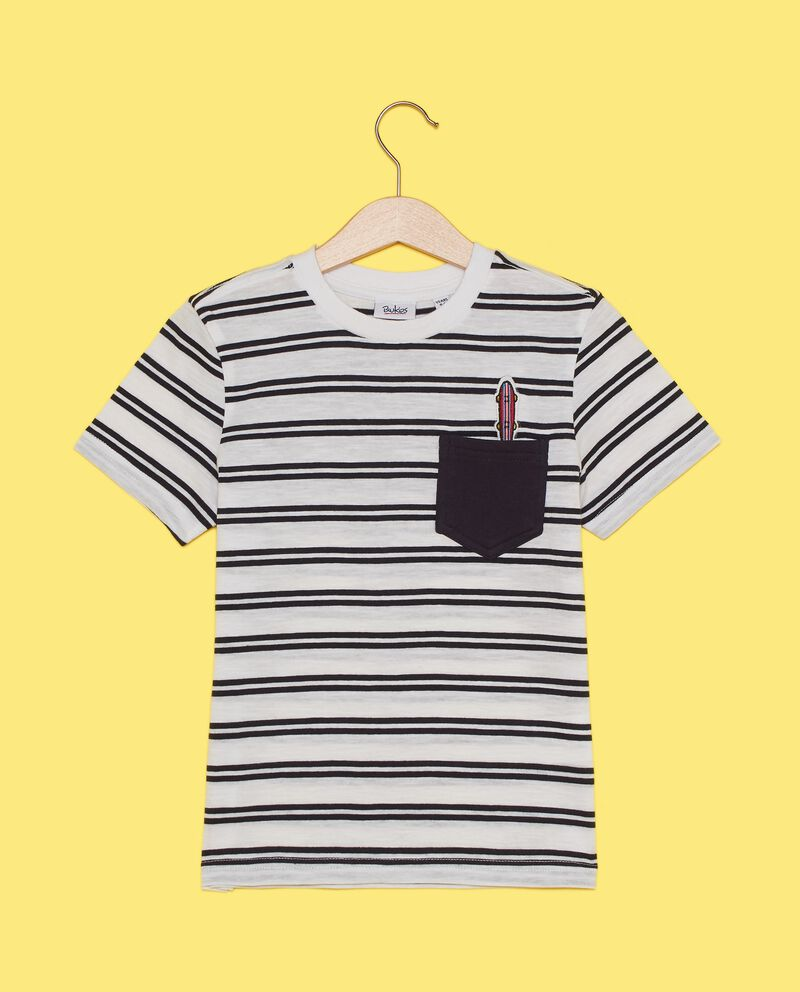 T-shirt in puro cotone con motivo a righe bambino