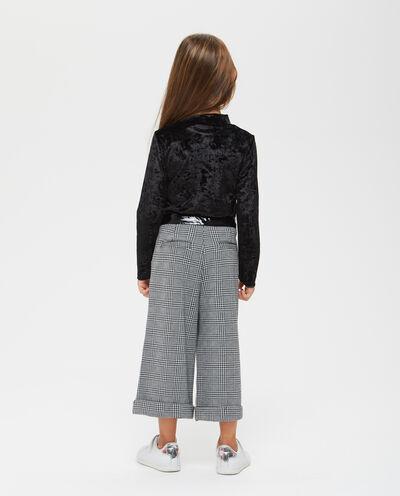 Pantaloni ampi a quadri bambina