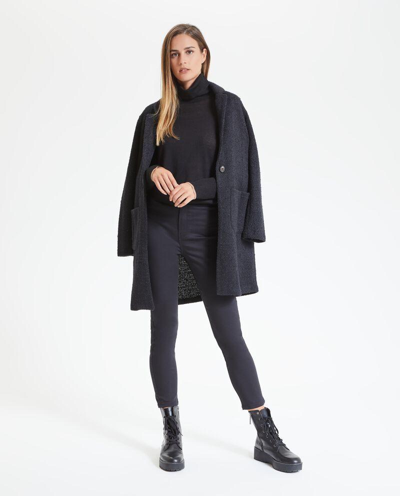 Cappotto con effetto mélange donna
