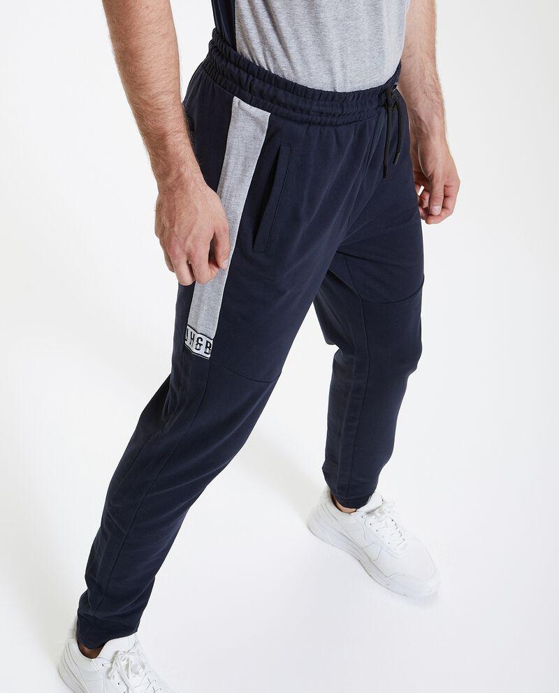 Pantaloni sportivi in puro cotone uomo