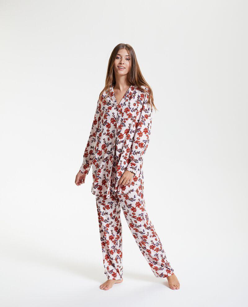 Pantaloni del pigiama in fantasia floreale