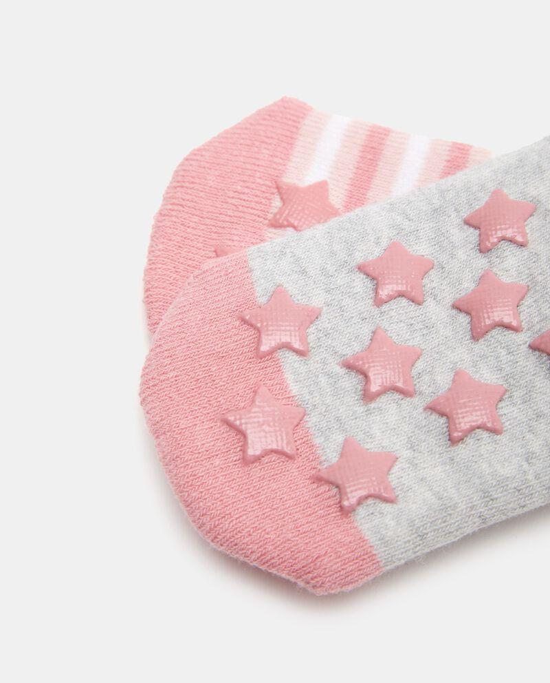 Bipack 2 paia di calzini in cotone biologico stretch neonata single tile 1
