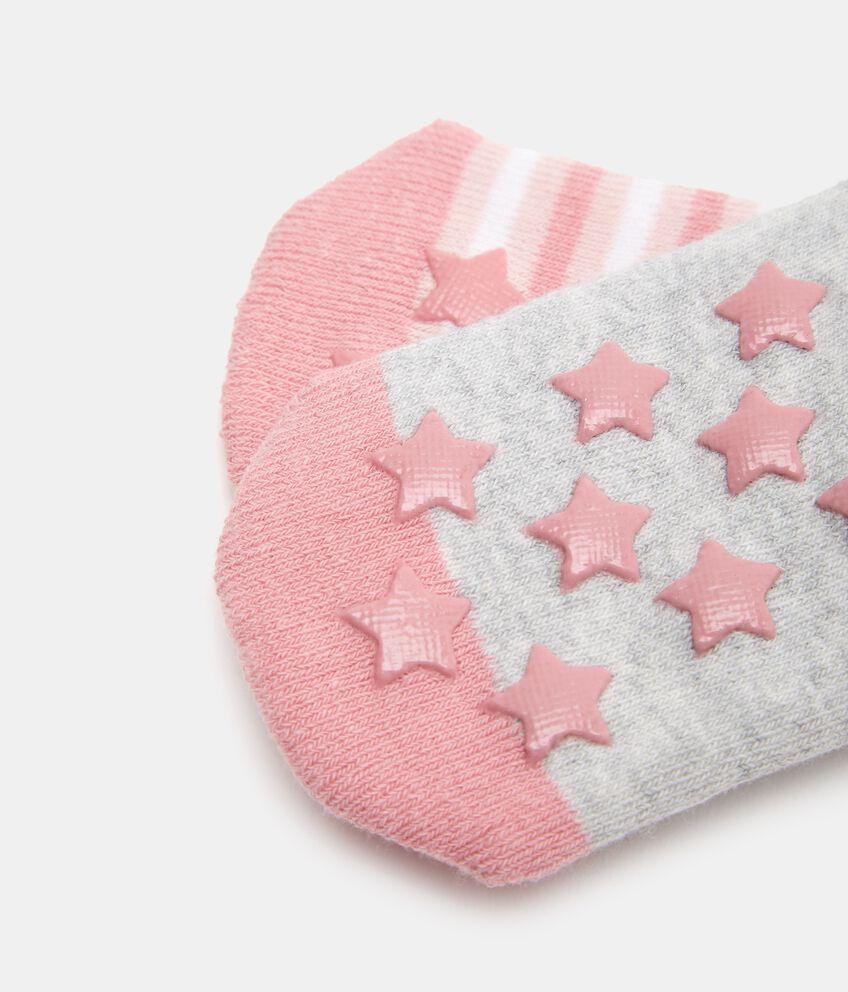 Bipack 2 paia di calzini in cotone biologico stretch neonata double 2