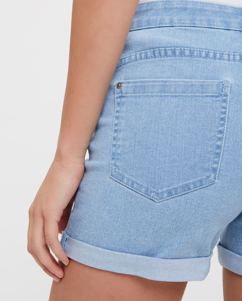 Shorts in jeans tinta unita donna