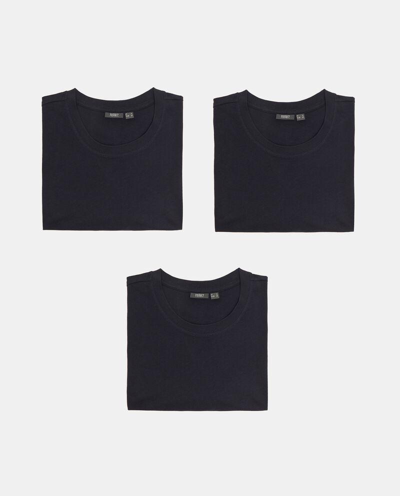 Set con 3 t-shirt intime di puro cotone uomo cover