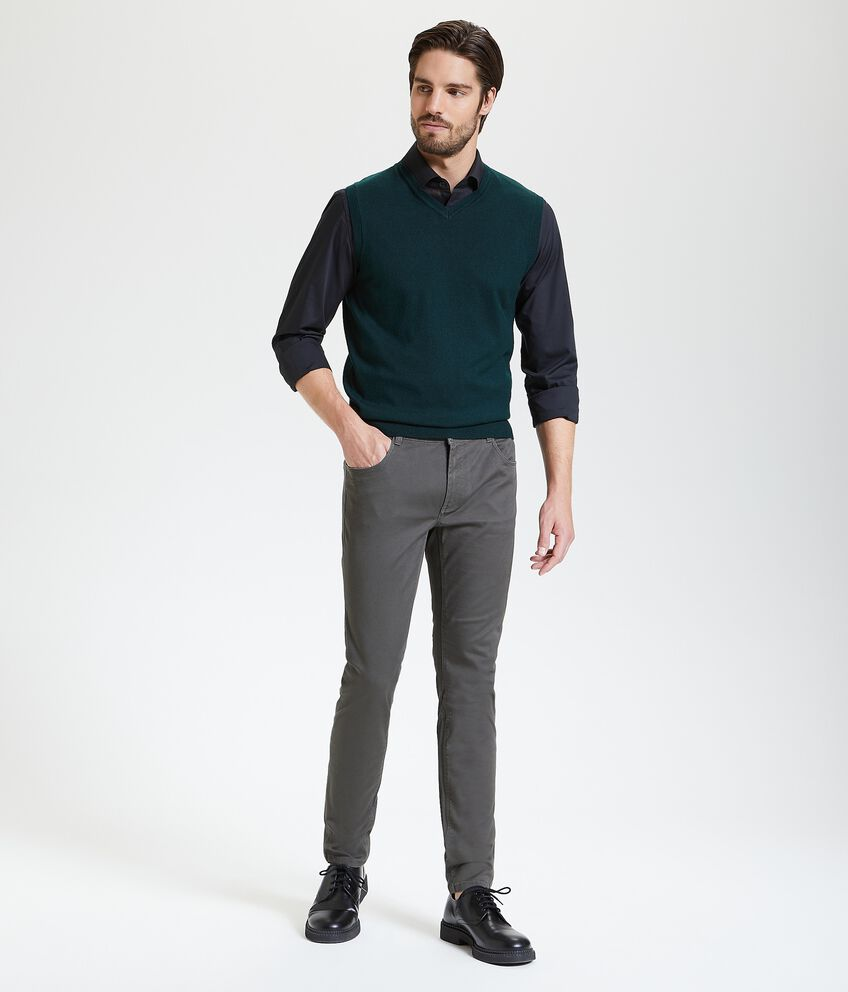 Pantaloni classici con cinque tasche uomo