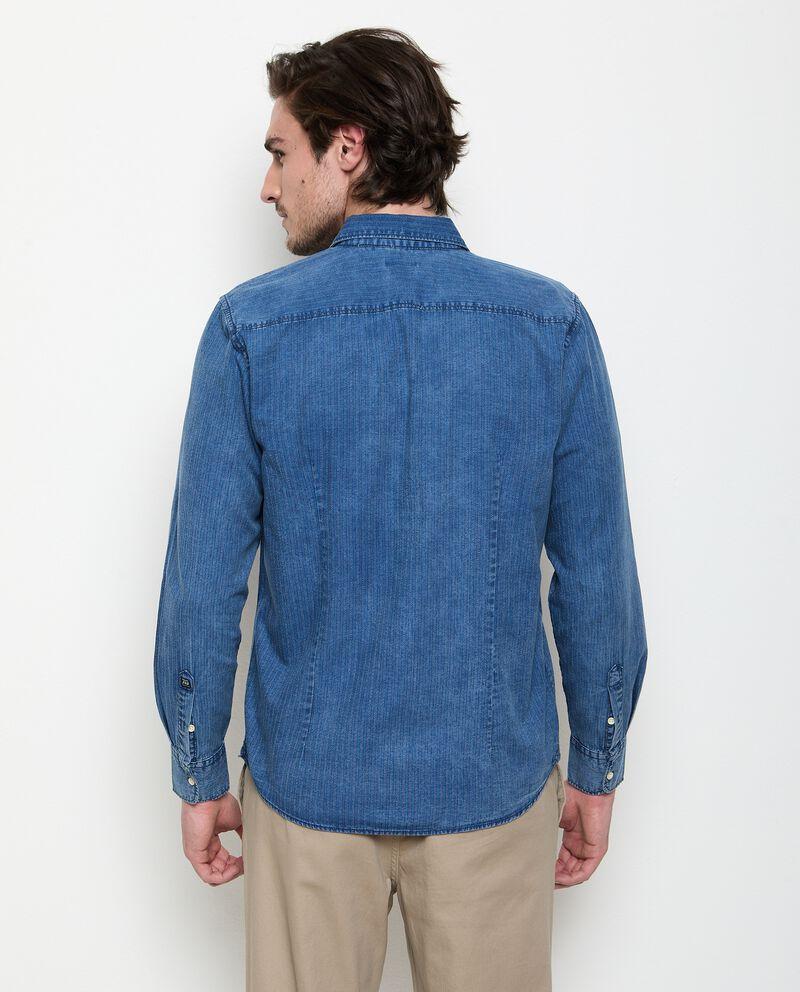 Camicia in denim puro cotone uomo single tile 1