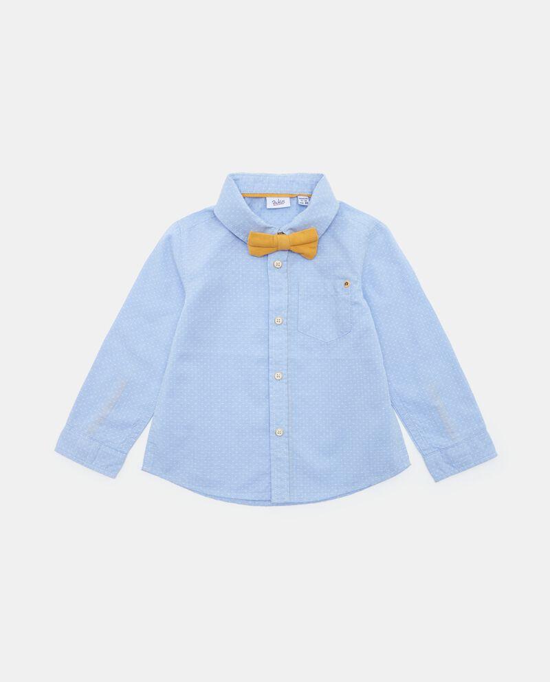 Camicia con motivo a pois neonato