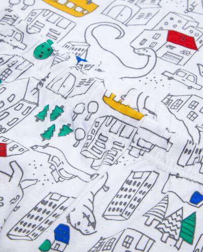 Set pigiama t-shirt e pantaloni fantasia neonato