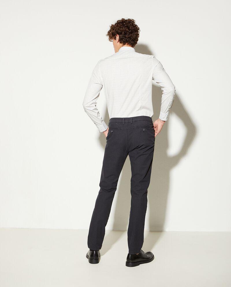Pantaloni chino stretch a righine slim fit uomo