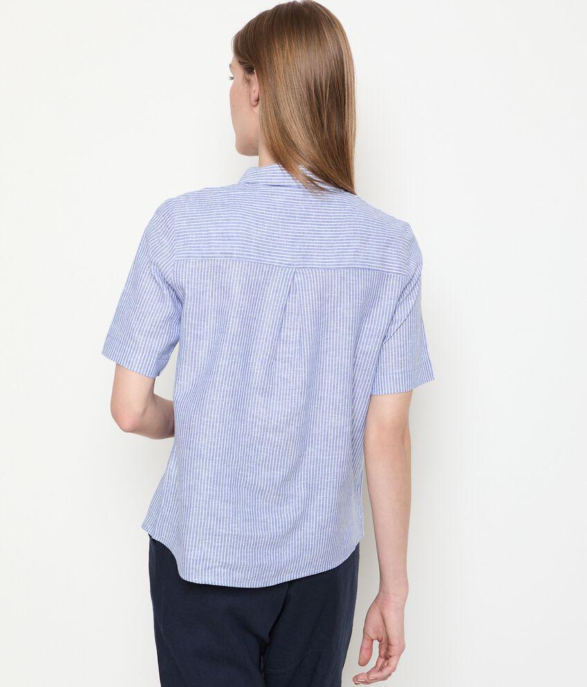 Camicia a maniche corte in misto lino donna double 2