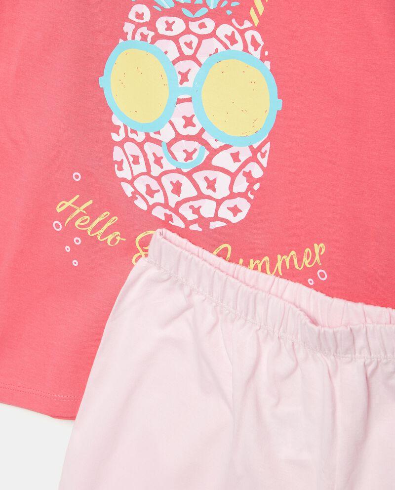 Set pigiama in puro cotone t-shirt e shorts bambina