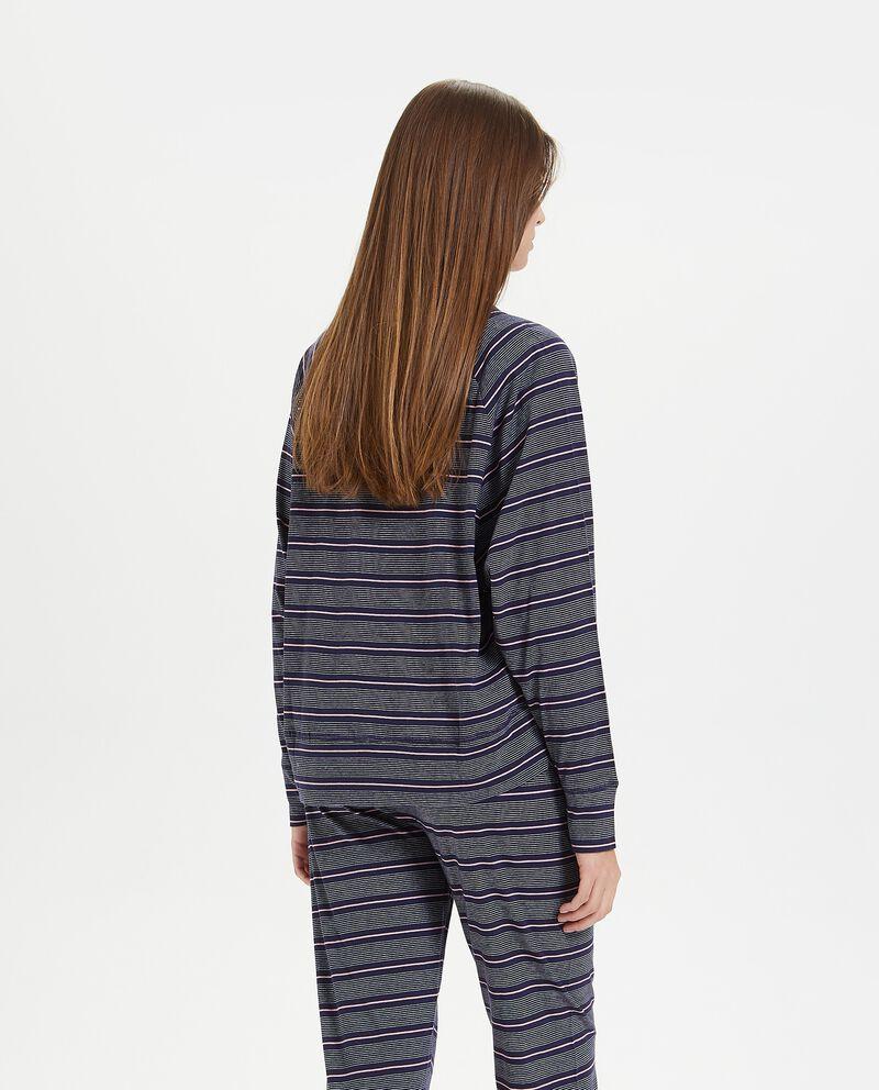 Maglia del pigiama a righe in puro cotone