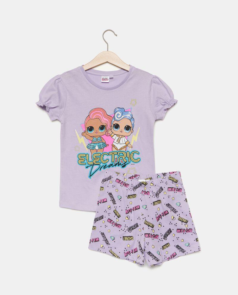 Set pigiama con stampa cartoni in puro cotone bambina