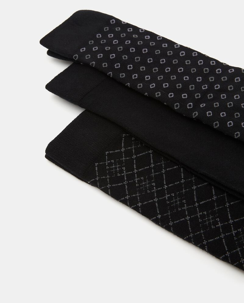 Set di calzini lunghi in cotone elasticizzato uomo single tile 1