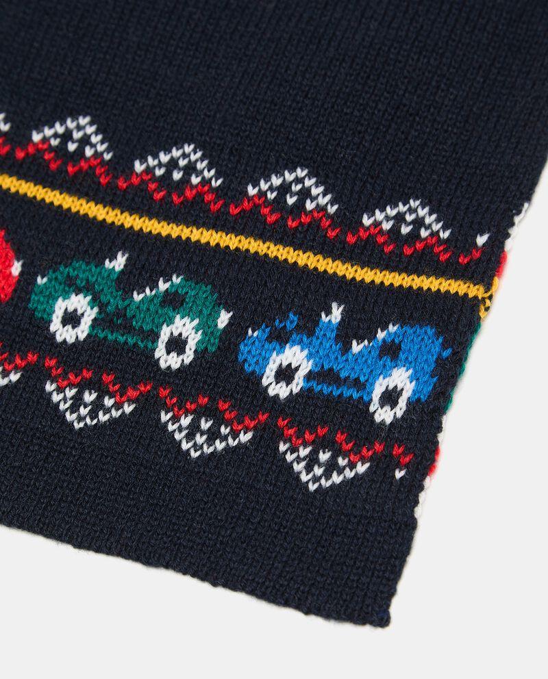 Sciarpa in maglia con motivo macchine neonato single tile 1