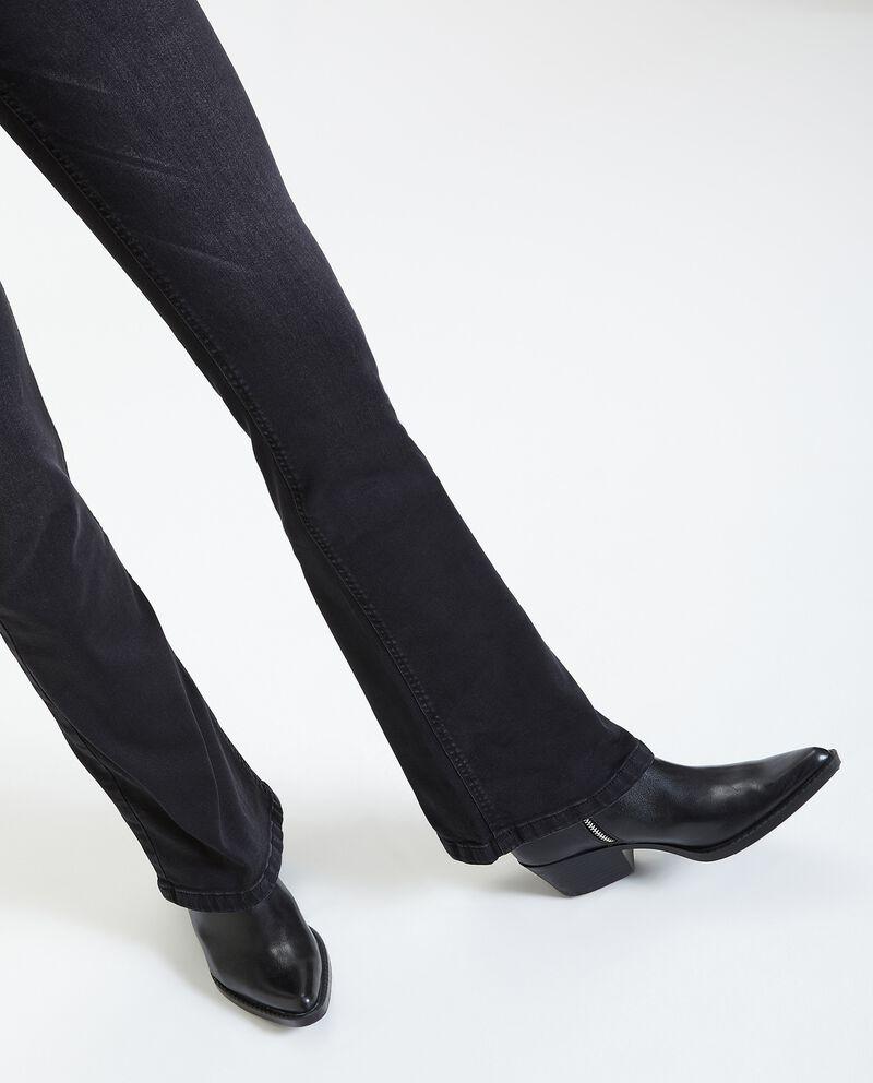 Jeans a vita alta slim fit a zampa donna