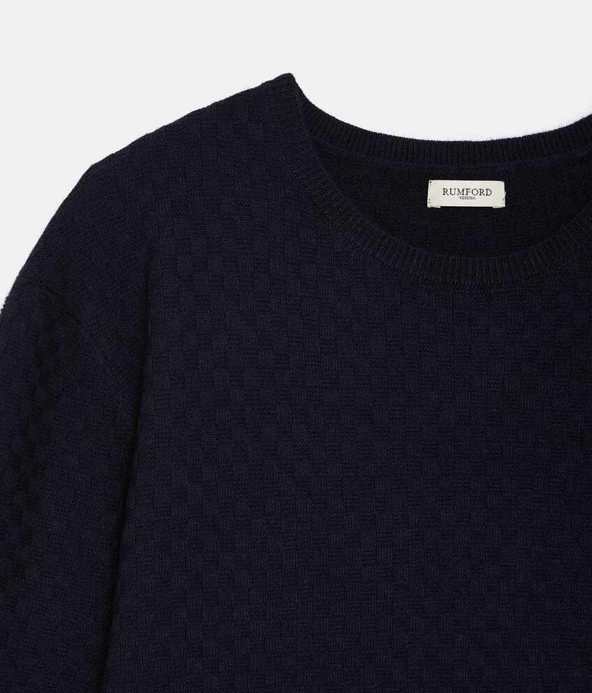 Pullover tricot in misto cashmere uomo double 2