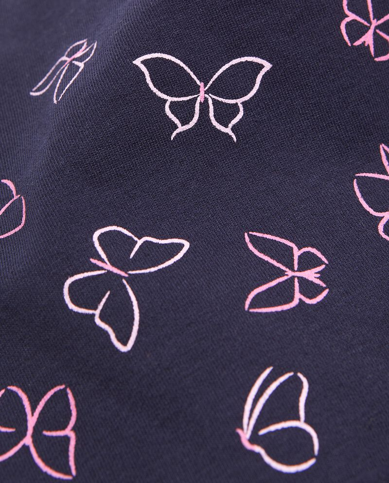 Berrettino di cotone elasticato con farfalle