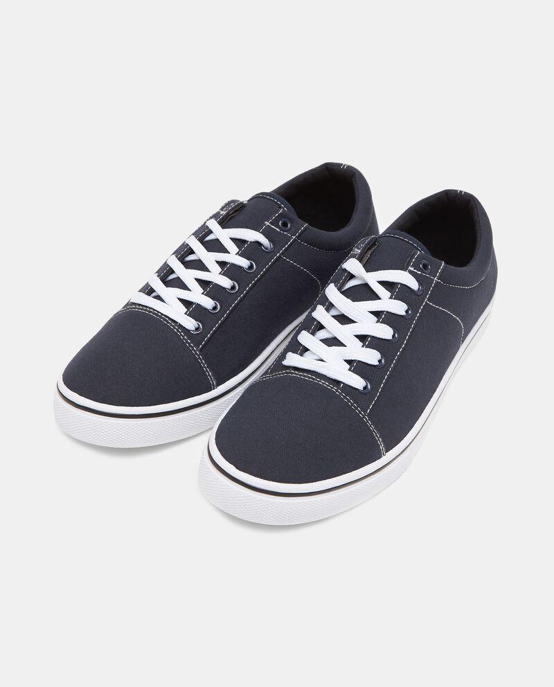 Sneakers in tessuto blu