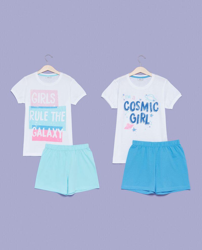 Set pigiama t-shirt stampa e shorts bambina