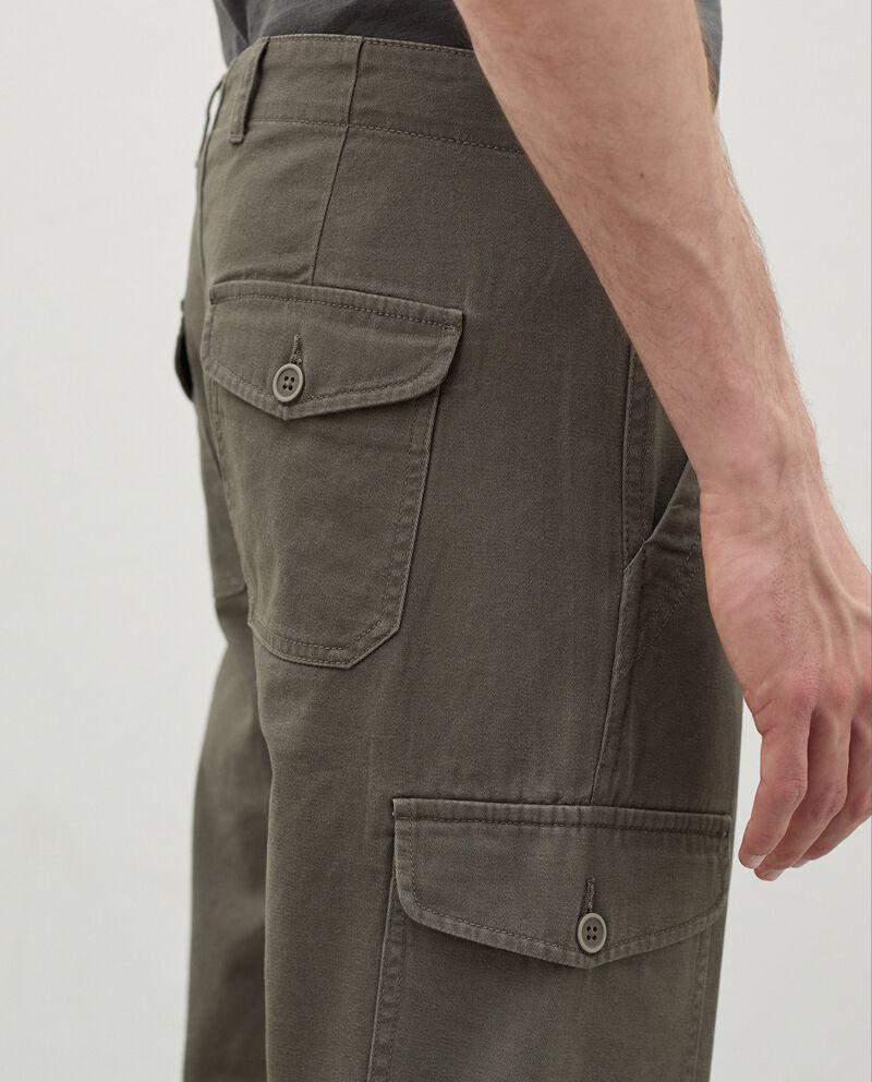 Pantaloni cargo di puro cotone uomo single tile 2