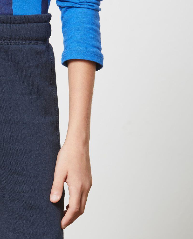 Pantaloni tinta unita coulisse a contrasto