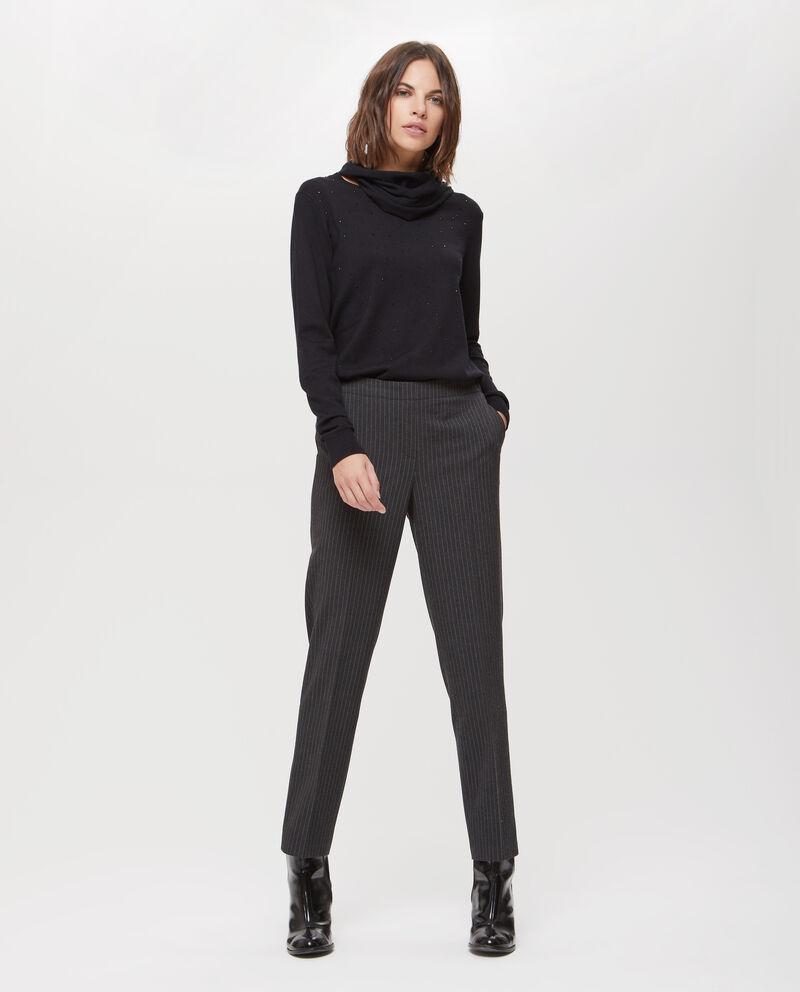 Pantaloni stretch gessato