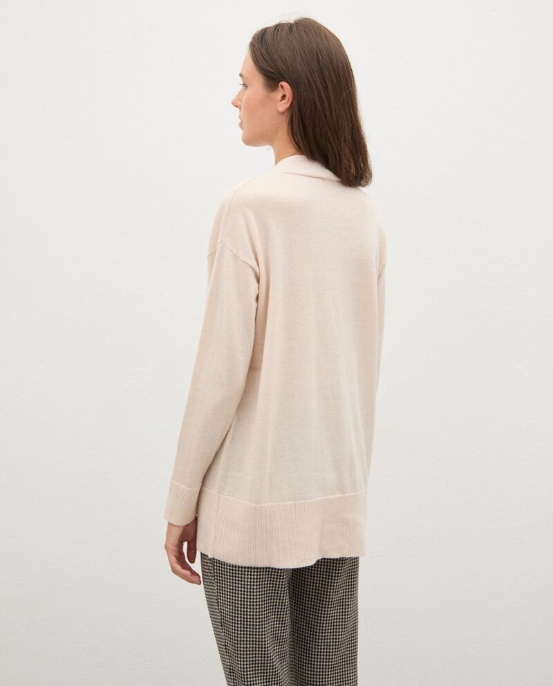 Cardigan tricot in lana con bottoni donnadouble bordered 1