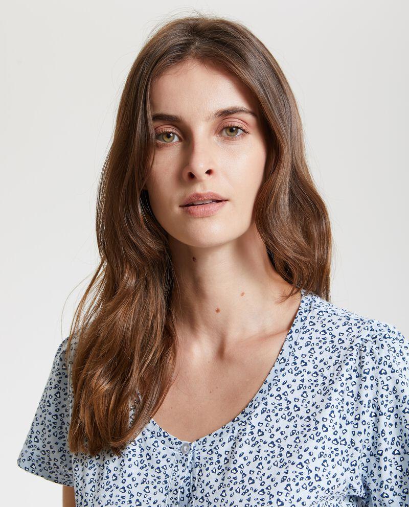 Camicia da notte con fantasia animalier donna