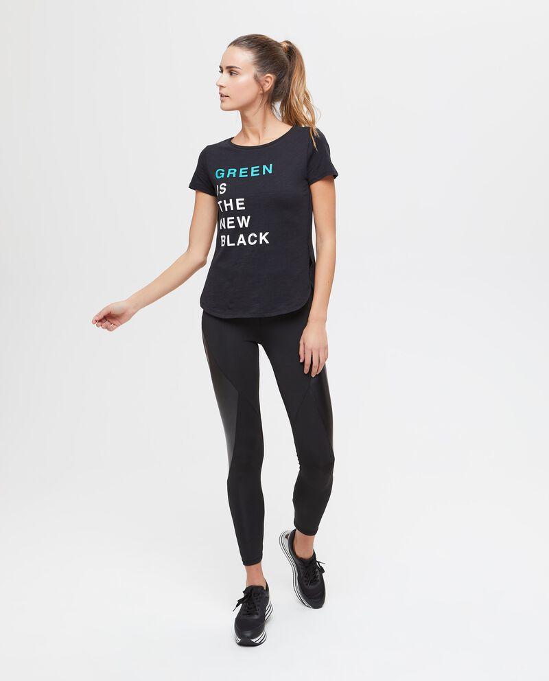 T-shirt sportiva puro cotone lettering