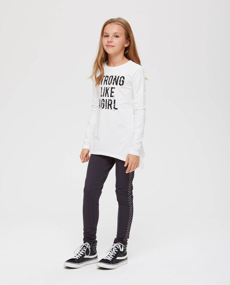 T-shirt maniche lunghe con perline