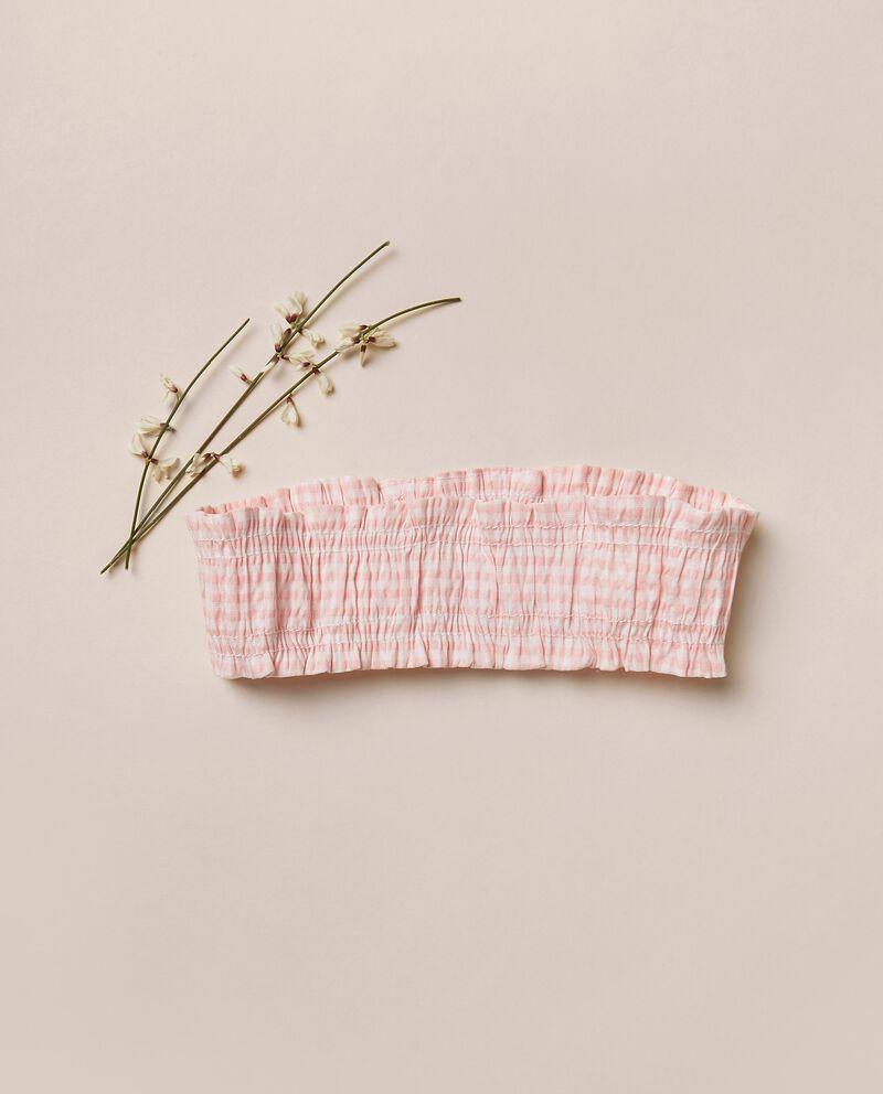 Fascia elasticizzata per capelli in seersucker MADE IN ITALY cover