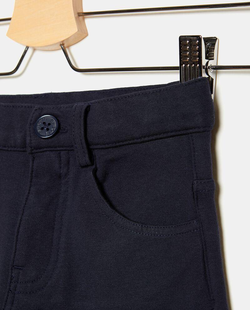 Jeans in cotone stretch con cinque tasche ragazzo single tile 1