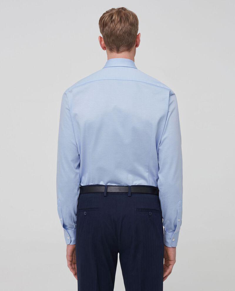 Camicia in puro cotone tinta unita single tile 1