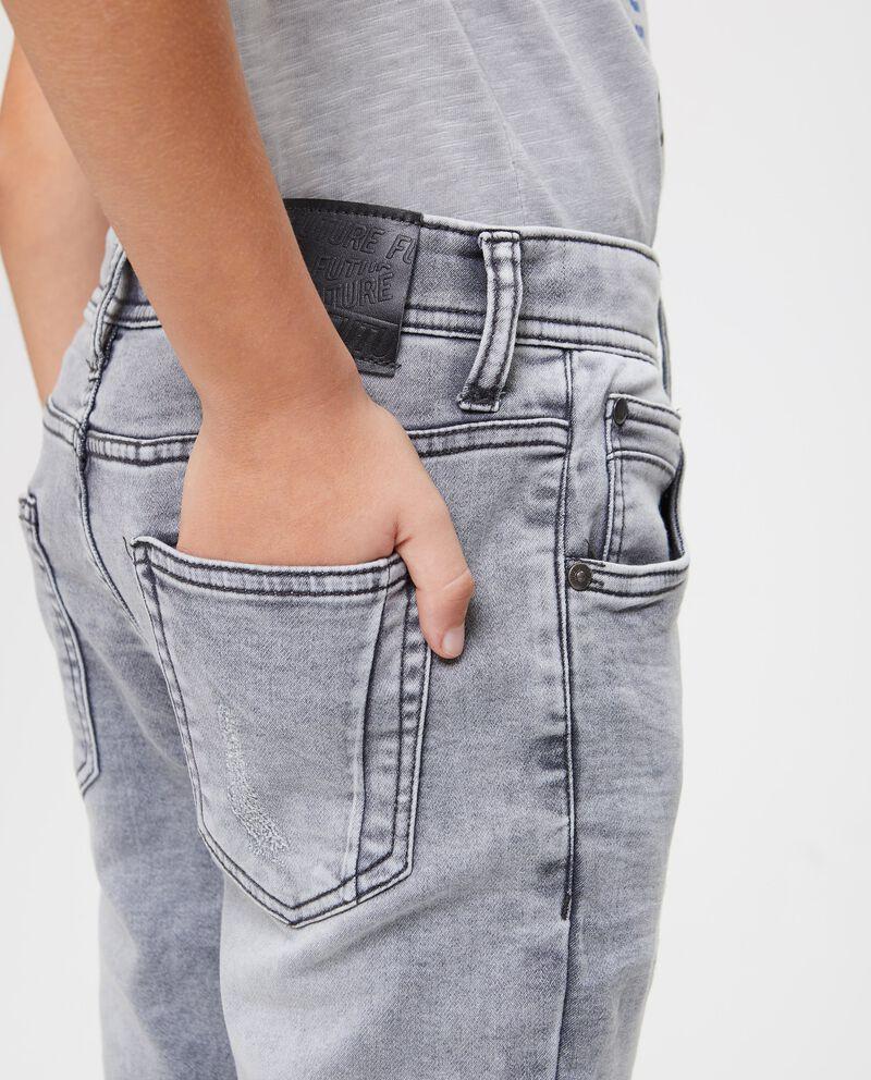 Jeans cinque tasche effetto vintage