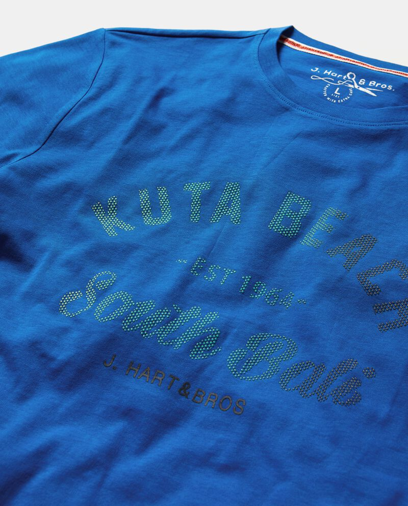 T-shirt in puro cotone con lettering uomo single tile 1