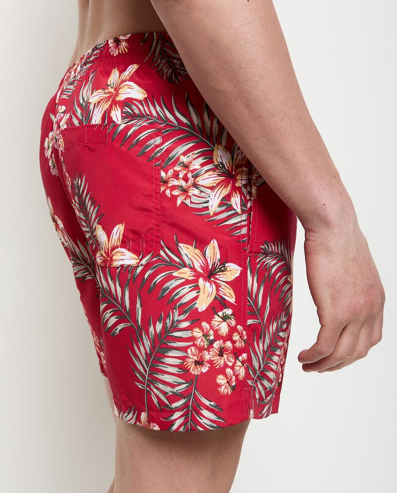Costume shorts stampa tropicale uomo